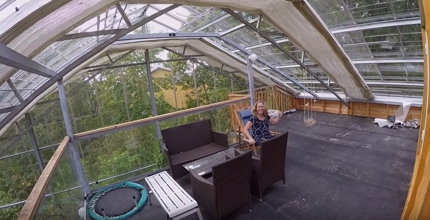 Family wraps home in greenhouse to warm up Stockholm weather   YouTube