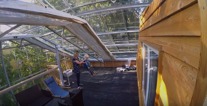 Family wraps home in greenhouse to warm up Stockholm weather   YouTube2