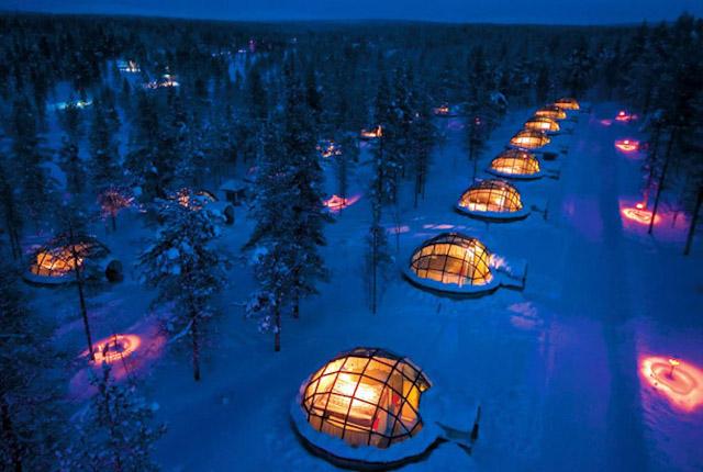 フィンランドのオーロラが見えるホテル