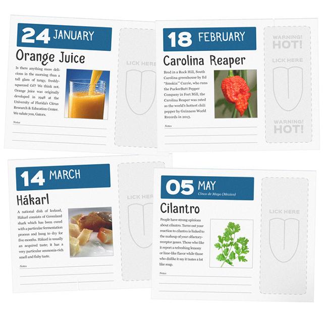 Flavor of the Day Desktop Calendar