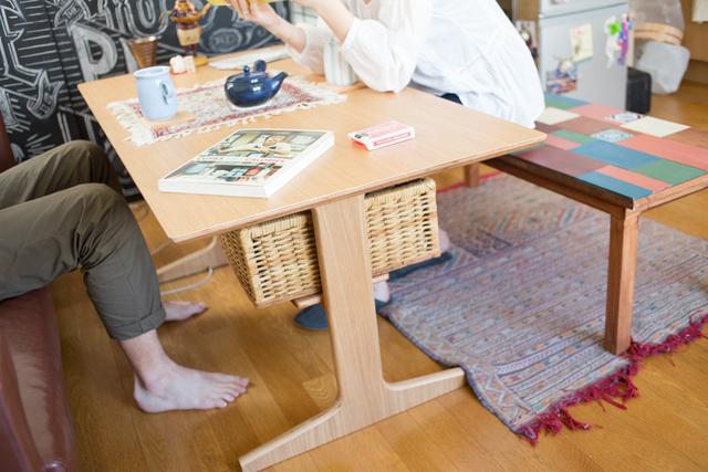 無印のリビングでもダイニングでもつかえるテーブル3