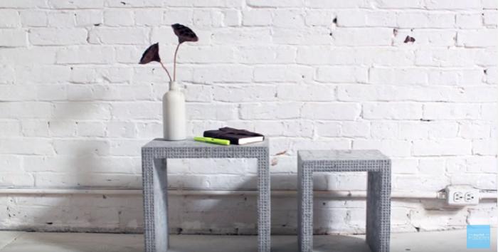 レゴブロックとコンクリートのDIYコーヒーテーブル_10t