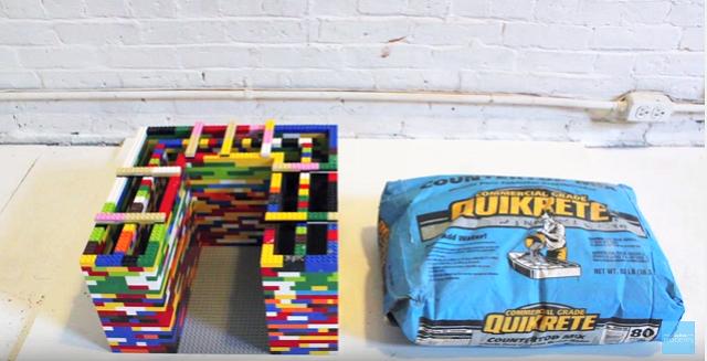 レゴブロックとコンクリートのDIYコーヒーテーブル_1