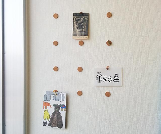 賃貸_コルク_コルク円板_DIY_賃貸_画鋲_2