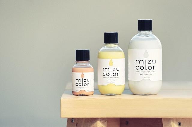 富士の水と植物でできたエコで優しい色合いのメイドインジャパンの塗料mizucolor_1