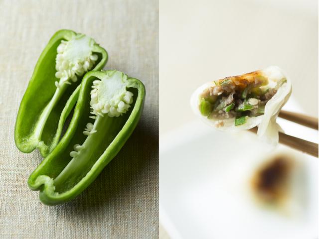 ピーマンの種とワタを入れるおいしい餃子のレシピ