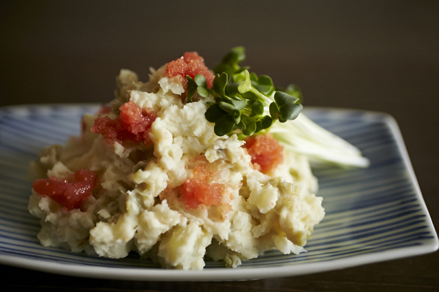 foodieからわさび漬け&たらこの和風ポテトサラダのレシピ_1