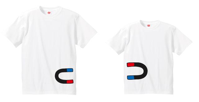 have some funのデザイナー生み出したTie-shirtsは、ふたりで並んだ時にそのコンセプトが分かるようになっている、ちょっと変わったかわいい親子用のペアルックです_2