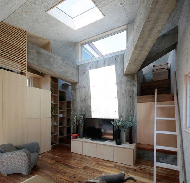 商店街を活性化するツリーハウスのようなおもしろくてデザイナーズな事務所併用住宅の建て替え_14
