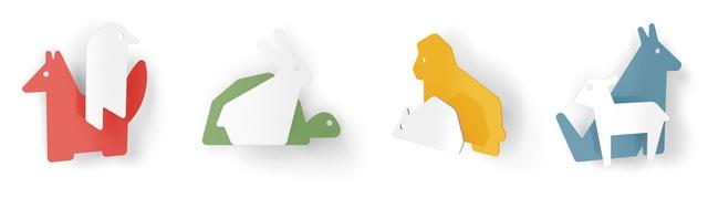 遊び心と実用性を兼ね備えるフランスのデザイナー集団enostudioによる動物のシルエットがかわいいフック