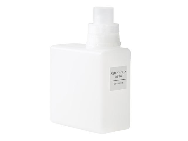 無印良品のインテリアアドバイザー・藤井さんは無印良品の「入浴剤・バスソルト用詰替容器」を生活感を払拭するための洗剤入れとして使う理由は市販のもののパッケージはポップなものが多すぎるから1