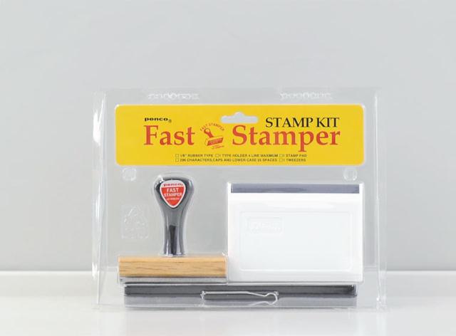 オリジナルのスタンプを手づくりできるPenco Fast Stamperは、ズレやかすれがあるから味があっていい1