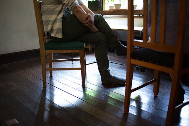 上野桜木あたりという古き良き日本の家である古民家のリノベについてkurachiffonの瀧内未来さんにインタビューのアンティークな床