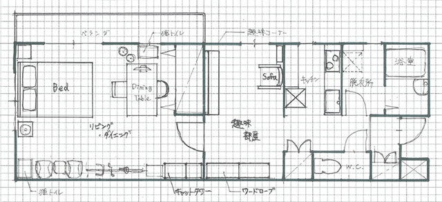 素敵な家の間取り図