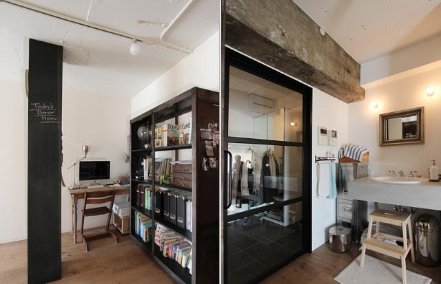 スケルトンによって自分の思い通りの広いリビング&キッチン空間を実現した杉並区のリノベーション事例「DRAFT」。無駄な動線と空間を省き、広さと自由度を重視したラフなコンセプトが生きたデザインです。6