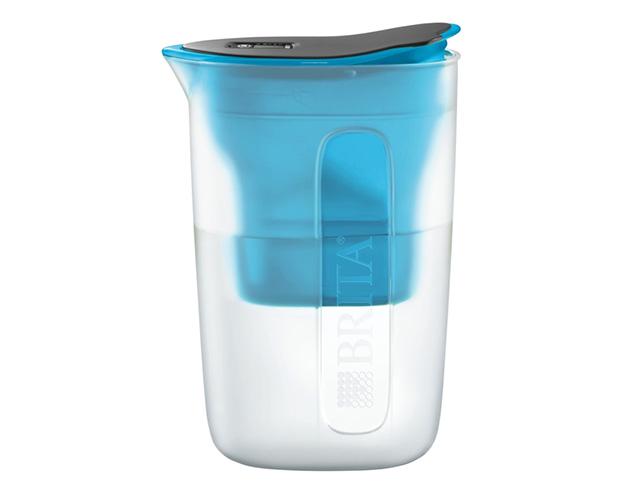 BRITA(ブリタ)が販売する「ポット型浄水器Fun」のご紹介。蛇口から水を注ぐだけで、1リットル4分でろ過できる新しい浄水器。浄水性能12項目高除去でカートリッジは日本の水質に合わせて作られている。5