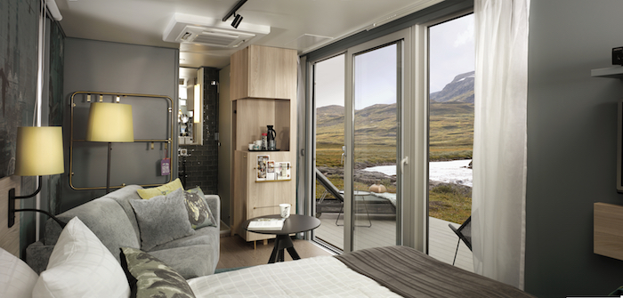 北欧のノルウェー、フィンランド、スウェーデン、デンマークに設置されたタイニーハウスみたいなおしゃれな移動ホテルであるScandic-To-Go_4