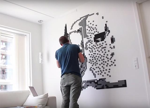 「Wallz Copenhargen」は、タイルを並べて自由に壁アートがDIYできる商品。壁が大きければ大きいほど、部屋の印象もガラリと変わります。