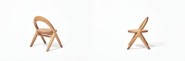 旭川大学大学院・磯田ゼミの「誕生する子どもを迎える喜びを地域の人々で分かち合いたい」という一言から始まった「君の椅子」プロジェクト。デザイナーの小林幹也氏を迎え制作した2016年バージョンは、オーガニックで丸みを帯びた柔らかい仕上がりに。2