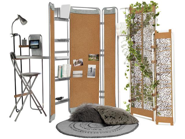 一人暮らしにぴったりのミニマルな家具「Lynko modular furniture system」は、フレームの家具。そこに様々なオプショナルパーツを取り付けることで、自分の暮らしにベストフィットする家具を、自らデザインできるのが最大の魅力です。5