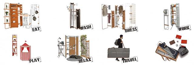 一人暮らしにぴったりのミニマルな家具「Lynko modular furniture system」は、フレームの家具。そこに様々なオプショナルパーツを取り付けることで、自分の暮らしにベストフィットする家具を、自らデザインできるのが最大の魅力です。3