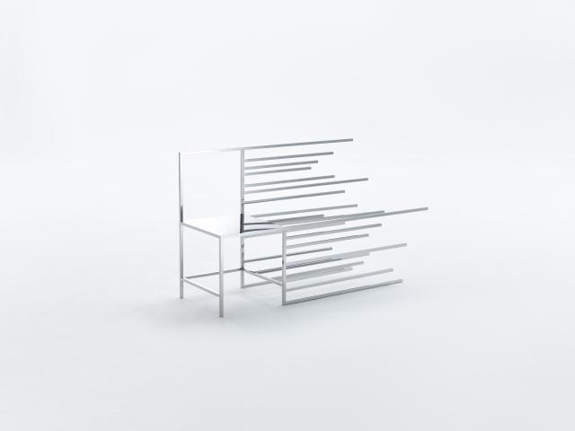 佐藤オオキ率いるデザインオフィス「nendo」が、ニューヨークのフリードマン ベンダ ギャラリーのために制作したマンガがモチーフの50脚のイス「50 manga chairs」をご紹介。マンガでよく見るキャラクターの横の動きがデザインされたイス。