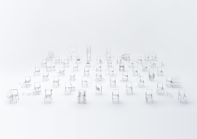 佐藤オオキ率いるデザインオフィス「nendo」が、ニューヨークのフリードマン ベンダ ギャラリーのために制作したマンガがモチーフの50脚のイス「50 manga chairs」をご紹介。50個並ぶとそれぞれのイスにストーリー性やキャラクター性を感じる。