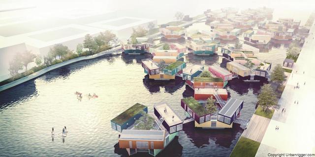 学生の住居問題を解決するために生まれたコンテナ製ドミトリー「Urban Rigger」は、住居費の高い北欧・コペンハーゲンで始まったプロジェクト。水上にドミトリーを作ることで、家賃や場所の問題の解決を目指すおしゃなアパート。9