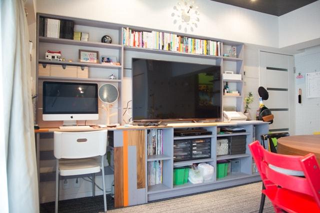 おしゃれ部屋_三鷹市_団地_団地リノベ_リノベーション_DIY_DIY家具_2