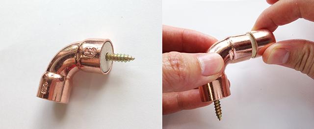 近流行りのインダストリアルなインテリアの中でも特に清潔感ある銅素材をつかった誰でも簡単につくれるDIYフックはキッチンにピッタリ3
