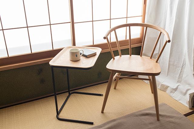 ☆MUJI 無印良品☆パイン材フォールディングローテーブル80×50×35cm☆折りたたみセンタ
