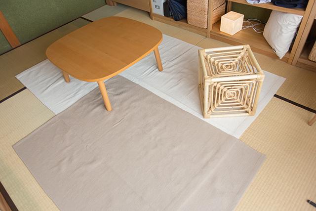 無印良品のインテリアアドバイザーの高田さんのおしゃれな和室の部屋のラグ_2