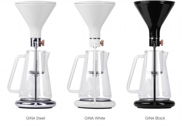 「GINA」は、コーヒーと水の分量や浸出時間の完璧な比率を、簡単に見つけられる、おしゃれで便利なスマート・コーヒーメーカー。内蔵のBluetoothと連動した計りで成分を計量し、最適なタイミングを教えてくれます。豆の品質や種類から、最高の味を追求してくれるんです。10